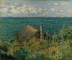 Claude Monet. The cabin at Sainte-Adresse