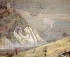 Бальтюс (Бальтазар Клоссовски де Рола). Пейзаж в Монтекальво, Италия