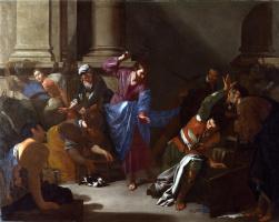 Бернардо Кавалино. Изгнание торгующих из храма