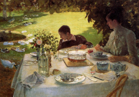 Giuseppe de Nittis. Breakfast in the garden
