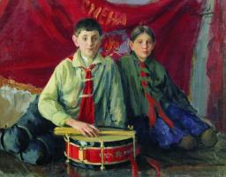 Иван Семенович Куликов. Пионеры. 1929