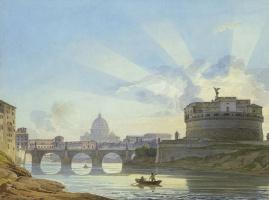 Александр Павлович Брюллов. Вид замка Святого Ангела в Риме