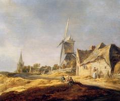 Ян ван Гойен. Вид на сельскую дорогу с ветряной мельницей