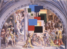Salvador Dali. The school of Athens and the fire in the Borgo