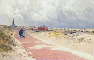 Хендрик Фредерик Кеммерер. Вид Схевенингена. 1871-1875
