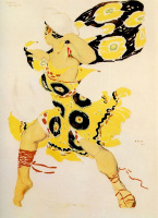 Lev Samoilovich Bakst (Leon Bakst). Sketch of a costume for the ballet BIOTICA N. N. Tcherepnin Narcisse