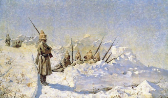Vasily Vasilyevich Vereshchagin. Snow trenches (Russian positions in the SHIPKA pass)