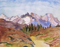 Джованни Джакометти. Ранняя осень в горах