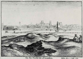 Венцель Холлар. Вид на Лондон от Ислингтона
