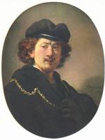 Рембрандт Харменс ван Рейн. Автопортрет с рукой на груди