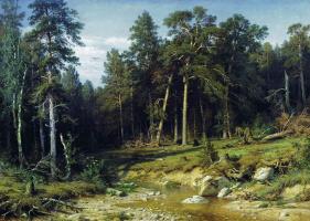 Ivan Ivanovich Shishkin. Sosnovyy Bor. Mast timber in Vyatka province