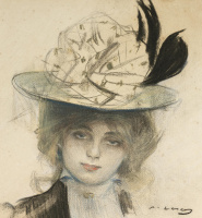 Рамон Касас Карбо. Portrait of a young woman
