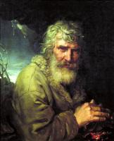 Владимир Лукич Боровиковский. Аллегорическое изображение зимы в виде старика, греющего руки у огня