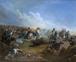 Attack of the life guards hussars at Warsaw on August 26 1831