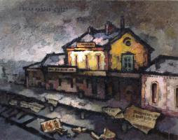 Оскар Яковлевич Рабин. Покинутый вокзал Сан Мишель