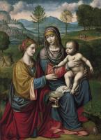 Бернардино Луини. Мадонна с младенцем и святой Екатериной