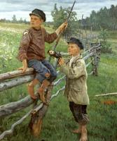 Николай Петрович Богданов-Бельский. Деревенские мальчики. Вариант