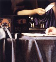 Ян Вермеер. Хозяйка и служанка. Фрагмент