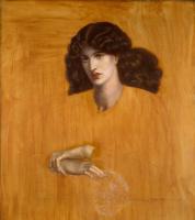 Данте Габриэль Россетти. Женщина в окне. Незавершенная версия картины