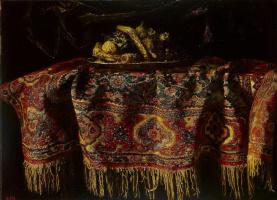 Франческо Мальтезе. Натюрморт с восточным ковром