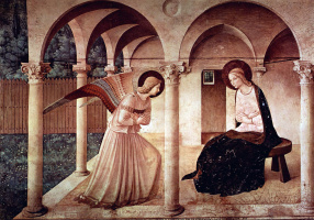 Фра Беато Анджелико. Благовещение. Фреска северного коридора монастыря Сан Марко, Флоренция