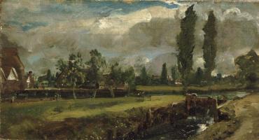 Джон Констебл. Пейзаж с рекой