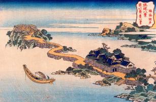 Кацусика Хокусай. Вид озера в Ринкей