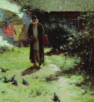 Абрам Ефимович Архипов. Келейник. 1891