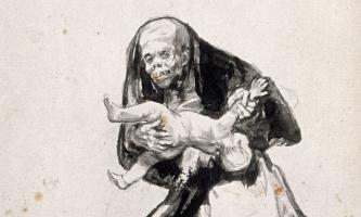 Francisco Goya. Evil woman (fragment)