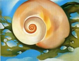 Georgia O'Keeffe. The snail and the algae