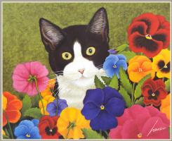 Лоуэлл Эрреро. Кот в цветах