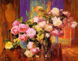 Франз Бишофф. Розы в комнате