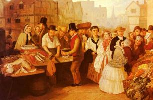 Альфред Грин. Оживленный рынок