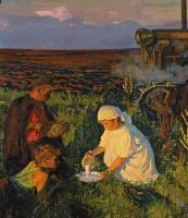 Аркадий Александрович Пластов. Ужин трактористов