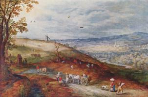 Ян Брейгель Старший. Пейзаж с ветряной мельницей