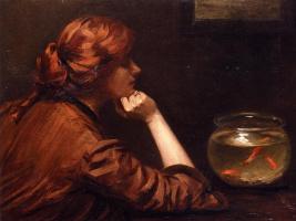 Джон Уайт Александер. Рыбы в аквариуме