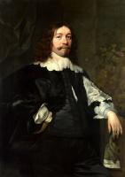 Бартоломеус ван дер Гельст. Портрет мужчины в черном который держит перчатки