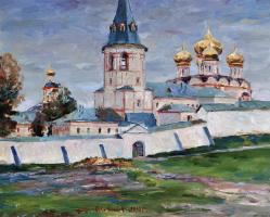 Александр Викторович Шевелёв. Иверский монастырь с юга.Оргалит,масло 30 # 37 см.2010