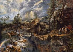 Питер Пауль Рубенс. Гроза, пейзаж с Филемоном и Бавкидой