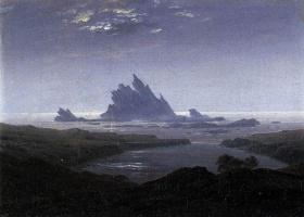 Каспар Давид Фридрих. Скалистый риф на берегу моря