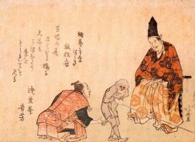 Кацусика Хокусай. Выступление обезьяны