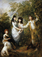 Thomas Gainsborough. The children of the family Marches