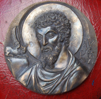 Евангелист Лука, бронза, 2010г
