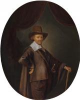 Геррит (Герард) Доу. Портрет господина с прогулочной тростью