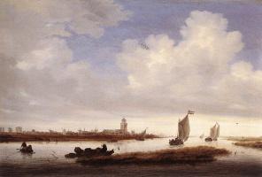 Саломон Якобс ван Рейсдал. Вид Девентере замечен с Северо-запада