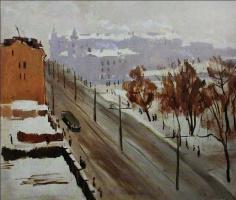 Александр Семенович Ведерников. Город зимой