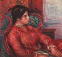 Пьер Огюст Ренуар. Женщина в зелёном кресле