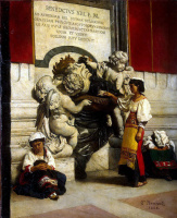 Леон Жозеф Флорантен Бонна. Фонтан у собора Святого Петра в Риме
