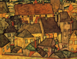 Egon Schiele. The yellow city
