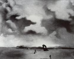 Сальвадор Дали. Ночной призрак на пляже